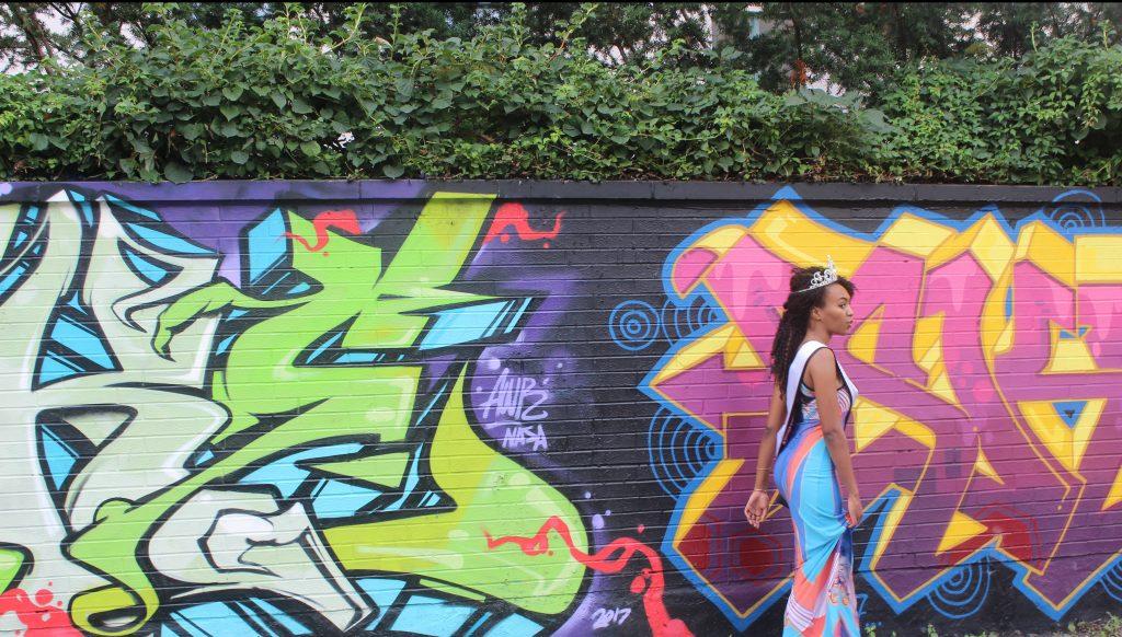 Walking through Graffiti Alley